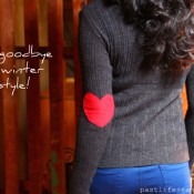 Heart motif, elbow patch, sweater, winter, valentine's day, DIY, Crafts