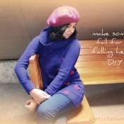 Falling heart DIY sweater