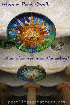 park guell, mosaic art, barcelona, spain, travel, photography, DIY
