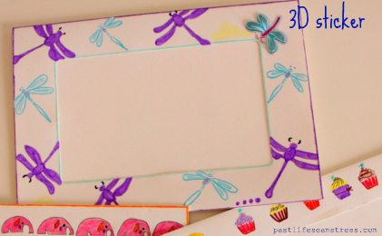 DIY, craft ideas, DIY photo frames, hand painted frames, colouring projects, girly stuff