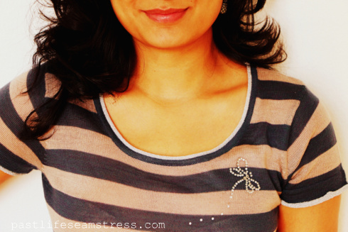 DIY t-shirt, craft ideas, DIY fashion, women's wear, shopping, diamante