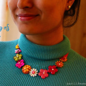 handmade jewelry, handcrafted jewelry, bead jewelry, diy necklace, trendy necklace, spring jewelry, spring necklace, statement necklace, gift idea, craft, fashion, trends, handmade, indian