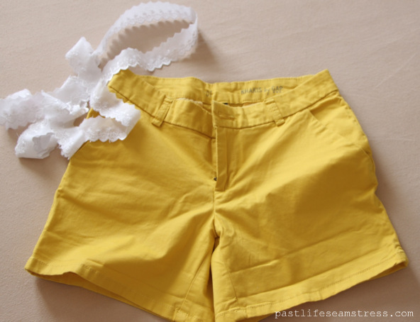 lace shorts, diy shorts, summer style, spring summer 2013, gap shorts, gap, craft ideas, simple sewing projects