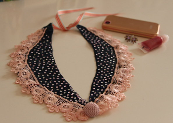 Collar necklace, peter pan collar, diy top, diy jewellery, diy, crafts, handmade jewelery, autumn winter 2013, fall, winter fashion
