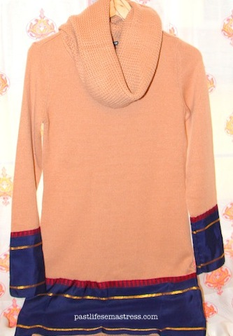 Saree border, jumper, diy jumper, H&M, hnm, winter diy, crafts, diy, women's wear, winter trend, new trends in winter