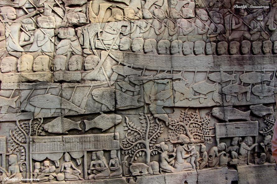 cambodia, siem reap, angkor wat, angkor wat sunrise, three day itinerary of angkor, best spot to watch sunrise at angkor wat, west gate vs east gate sunrise, things to do in siem reap, sunrise siem reap, angkor war temple pass, angkor wat do's and don'ts, bayon temple, which temples to see in cambodia, must see temples of siem reap, history of angkor wat, how to see angkor wat, angkor wat photographs, ta phrom, preah khan temple, dinosaur carving at angkor wat, shinta mani, how to dress for angkor wat, what to wear at angkor wat, apsara carvings at angkor wat, stone causeway over moat, stone causeway at angkor wat, vishnu shrine in angkor wat , Bayon temple, How to see temples at angkor, how to see temples at cambodia, must see temples of angkor